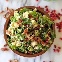 Kale Quinoa Salad HealthyAperture.com