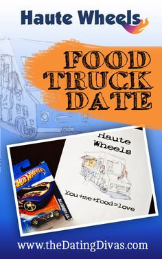 A fun, creative date night hitting up a local food bus or two.  Cute invite too! www.TheDatingDivas.com #datenight #dateidea #thedatingdivas