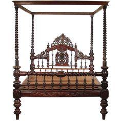 Anglo/Indian Mahogany Bed