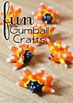 Gumball Food Craft: Edible Gifts | ASpicyPerspective.com #KidFriendly #Halloween #EdibleGifts #Gumballs