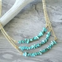 DIY Simple Turquoise Necklaces