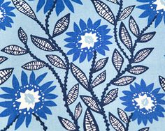 Fenton Arctic Blue from Premier Designer Collections #fabric #floral #blue #kids