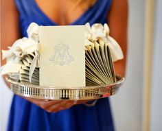 invit, idea, wedding programs, dream, silver trays