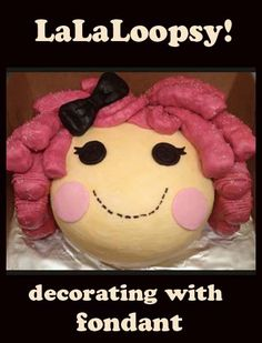 LaLaLoopsy Cake! Great decorating tips here. lalaloopsy, cakes, cakecupcak decor, food, cake decor, lalaloopsi cake, lalaloopsi birthday, decorating tips, dessert