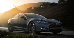 Tesla Model S electric car.