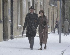 Melted hearts? Isobel Crawley, played by Penelope Wilton, walks arm in arm with Dr Clarkson. It's about time!!!!