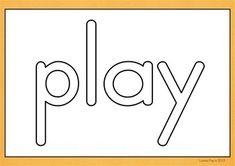 Playdough Mats - Sight Words Pre-Primer {FREE}