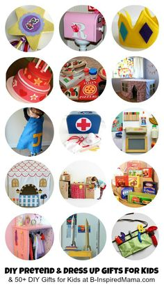 Pretend and Dress Up Gifts to Make for Kids at B-InspiredMama.com #kids #DIY