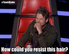 Blake Shelton has no shame! #TeamBlake #TheVoice