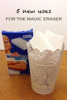 5 NEW uses for the Magic Eraser: remove paint that has dried, remove adhesive residue after removing stickers, remove rust from most surfaces, remove nail polish spills or stains, remove tarnish from silver ... what's your favorite uses?