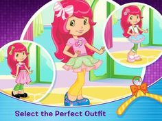 Strawberry Shortcake Berry Beauty Salon - 4 simple role-play activities featuring Strawberry Shortcake and her friends. Appysmarts score: 87/100