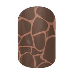 Kind of love these. Brown Giraffe  nail wraps by Jamberry Nails