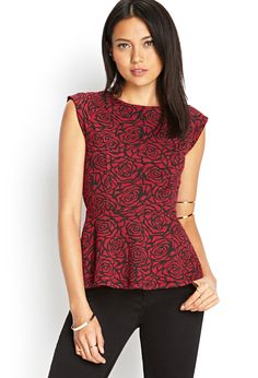 Textured Rose Peplum Top | FOREVER21 #SummerForever