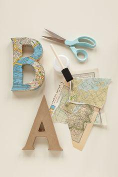 Decoupage Letters. U