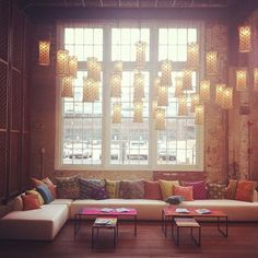 Hanging lights with middle eastern feel.