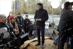Tim Burton on-set of Big Fish (2004)