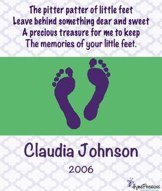 pitter patter little feet printable poem