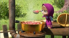 Masha making Jam (Russian children s' series: Masha and the Bear)