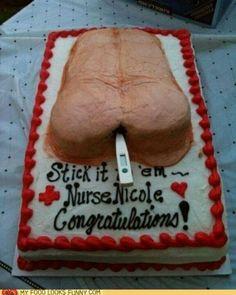 nursing school grad cake. I don't want this when I graduate. Thanks!
