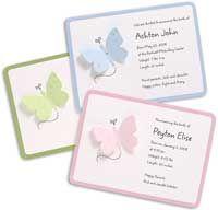 shower invitations, shower idea, butterfli invit, babi shower, baby showers