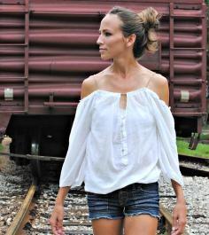 DIY Tutorial: DIY Sewing / DIY Trash To Couture DIY cutout top from tank - Bead&Cord