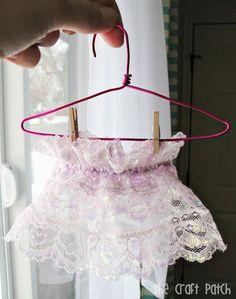DIY Wire Hangers for Doll Clothes DIY Dollhouse DIY Toys DIY Crafts