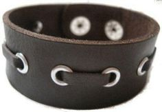 laced leather cuff love this