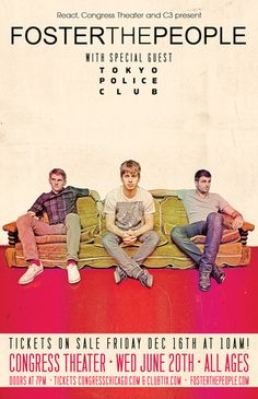 Foster the People, Tokyo Police Club, & Kimbra at the Congress Theater on June 20 & 21