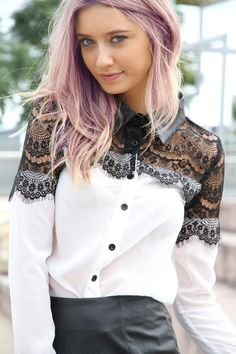 sabo skirt, blouses, hair colors, lace tops, fashion, style, shirts, lace blous, vintage inspired