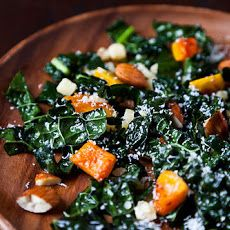 Northern Spy's Kale Salad I swap out the pecorino cheese for Manchego butternut squash, food recipes, brown bag lunches, salad recipes, brown bags, spi, kale salad, winter squash, salads