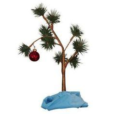 Charlie Brown Christmas Tree ... Blanket and all. Ha.