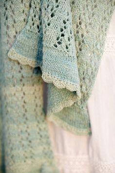 Free Knit shawl