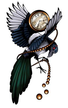 hmmm...that's intersting if developed. Steampunk magpie? Need to switch it with a raven then yes please :)