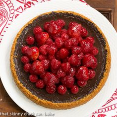 Berry Topped Chocolate Silk Tart #SundaySupper