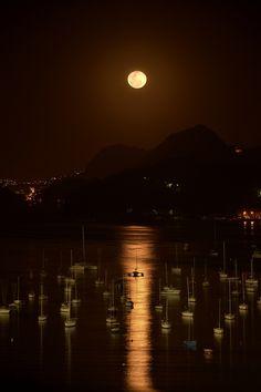 water, brazil, moon, la luna, bay, rio de janeiro, nature photography, beauti, place