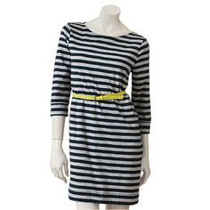 lc lauren conrad striped t-shirt dress