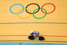 Sarah Hammer of the United States competes in the Women's Omnium Track Cycling 3km Individual Pursuit on Day 11 of the London 2012 Olympic Games at Velodrome on Aug. 7, 2012.    Credit: Bryn Lennon/Getty Images