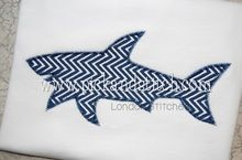 Shark Silhouette Applique