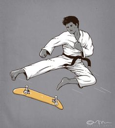 karate kickflip by ~temy0ng on deviantART