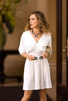 Carrie Bradshaw.  Batwing dolman sleeves.