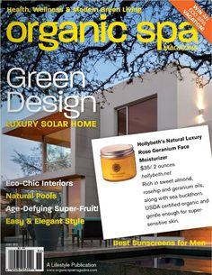 Organic Spa magazine featured my rose geranium moisturizer
