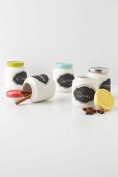 Chalkboard Spice Jar - make using baby food jars