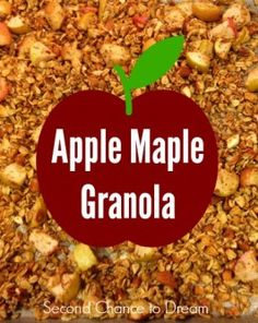 I'm sharing a hearty Apple Maple Granola recipe perfect for fresh fall apples.