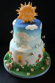 Keyla's spring themed birthday cake by The Cake Boutique, via Flickr