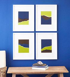 Torn-paper abstracts...easy DIY wall art