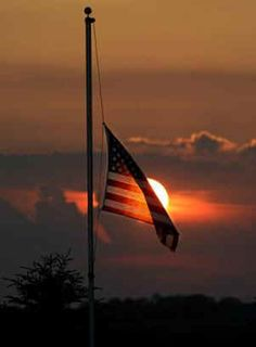 Half staff honor and remember