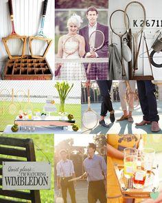 Vintage Tennis Wedding Ideas Mood Board from The Wedding Community