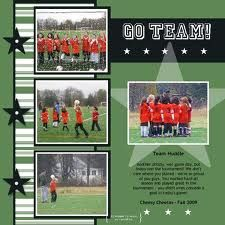 soccer layouts for scrapbooking - Google Search