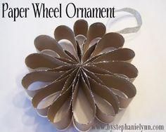 Paper wheel ornament