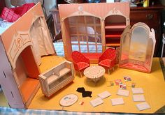 Vintage 1960's Barbie Fashion Shop With Furniture Invitations Mags & Accessories
